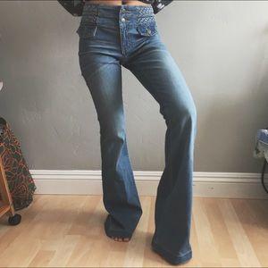 High Waist Festival Wide Leg Jeans